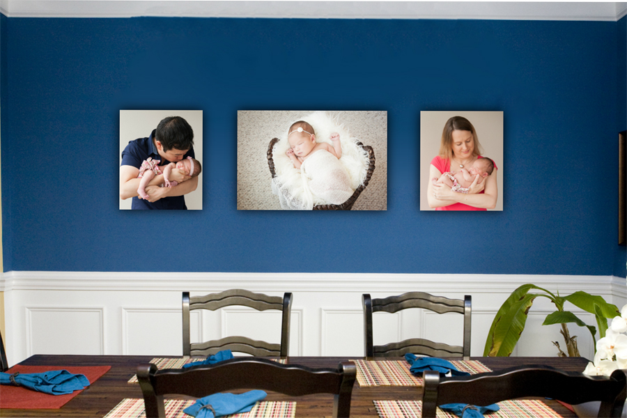 Wall Portrait  Newborn Photographer DC Portraits Classic Maternity and Photography in